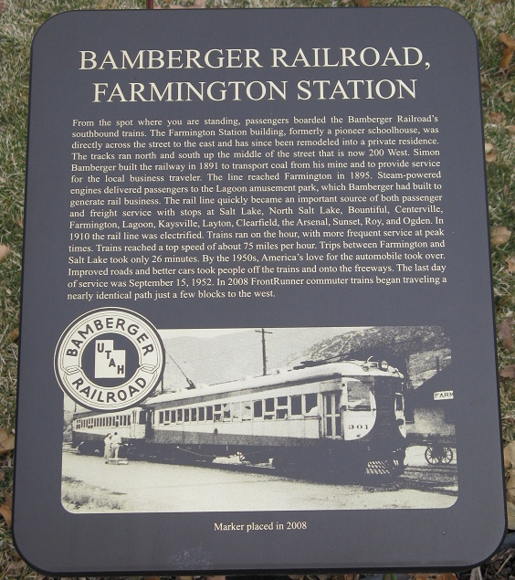 Bamberger Railroad Marker